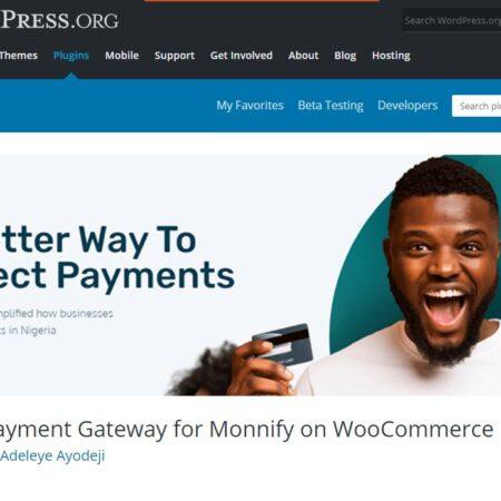 "WooCommerce ""Monnify Payment Gateway"""